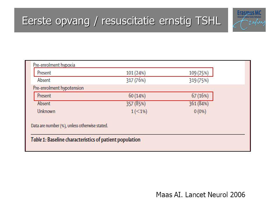 Eerste opvang / resuscitatie ernstig TSHL