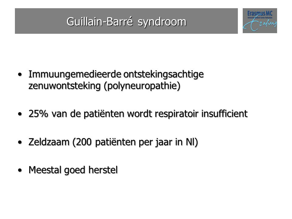 Guillain-Barré syndroom