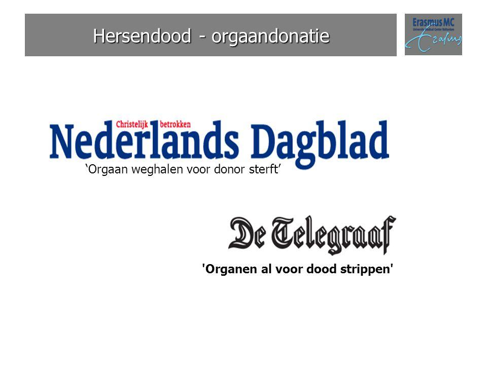 Hersendood - orgaandonatie