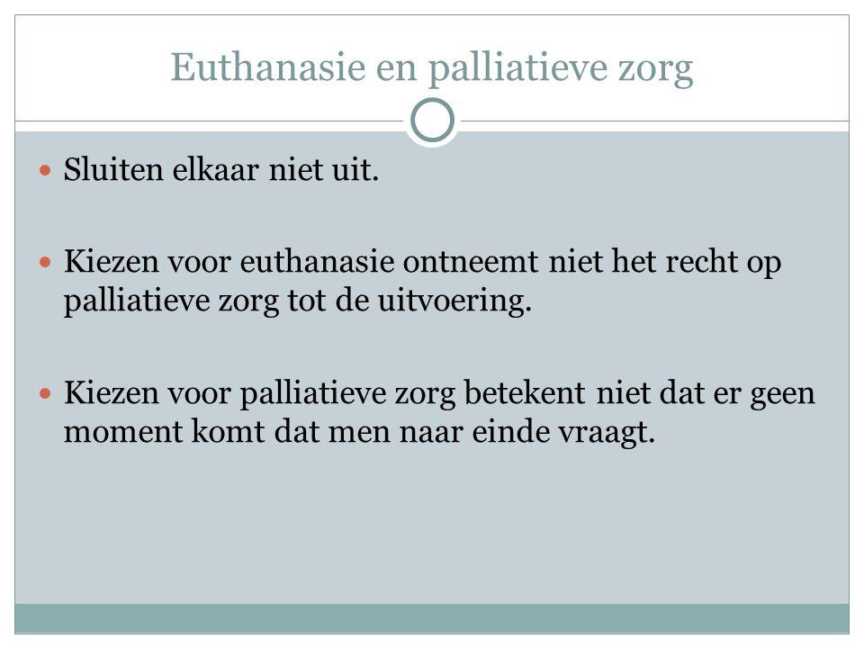 Euthanasie en palliatieve zorg