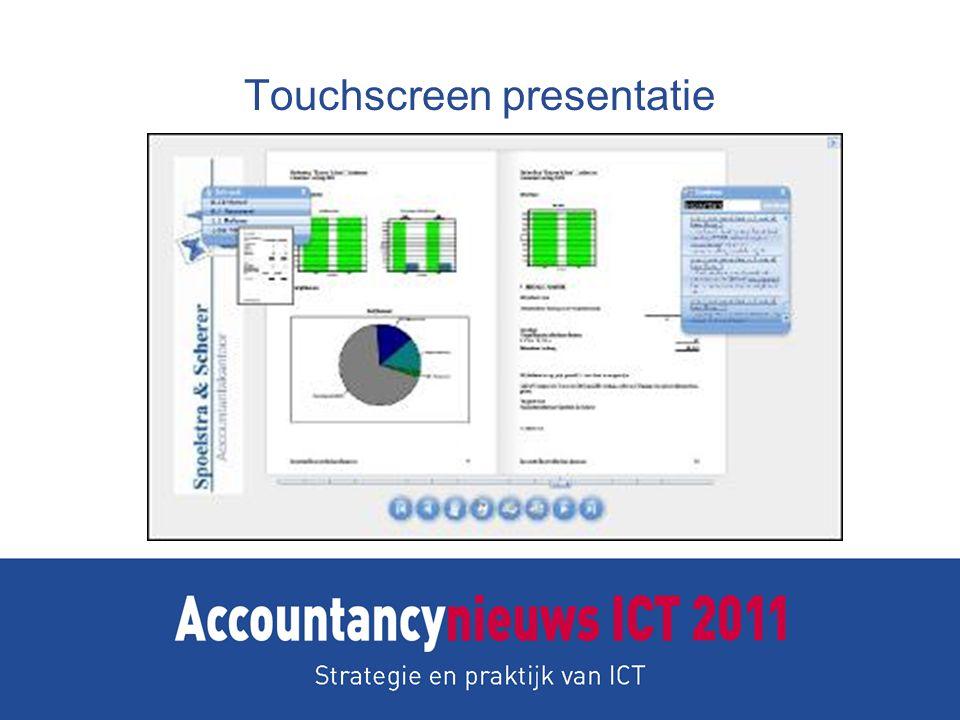 Touchscreen presentatie
