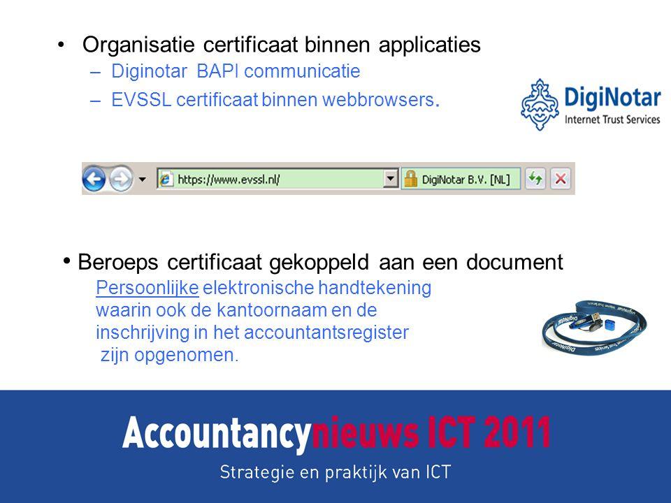 Beroeps certificaat gekoppeld aan een document