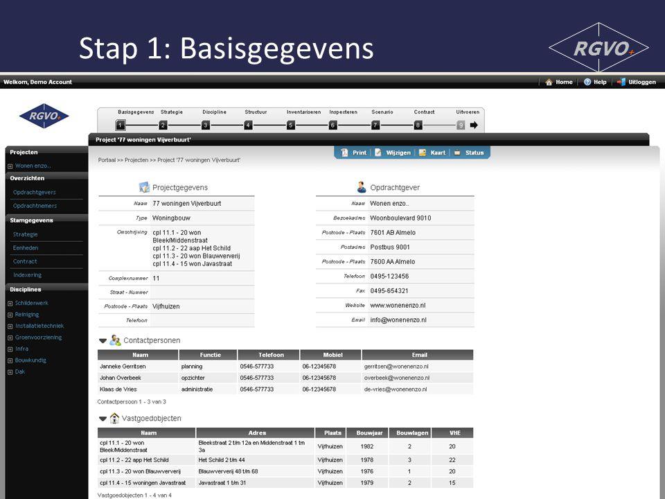 Stap 1: Basisgegevens RGVO+
