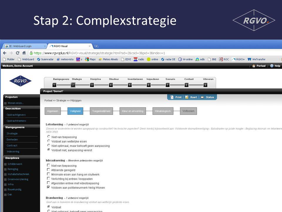 Stap 2: Complexstrategie