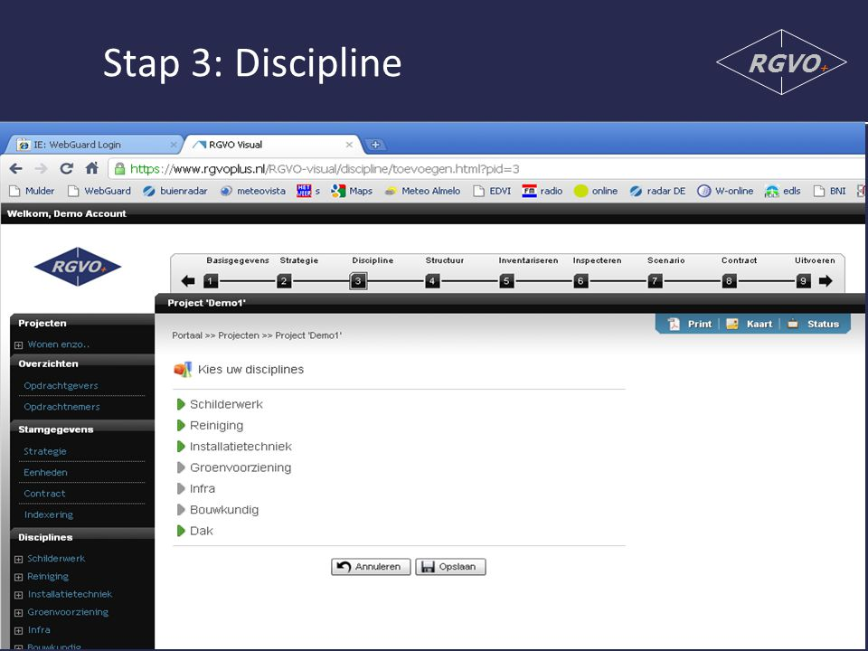 Stap 3: Discipline RGVO+