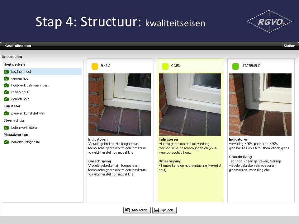 Stap 4: Structuur: kwaliteitseisen