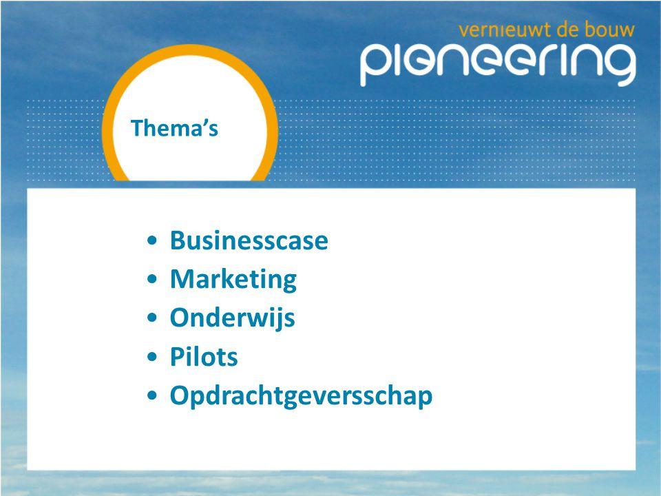 Thema's Businesscase Marketing Onderwijs Pilots Opdrachtgeversschap