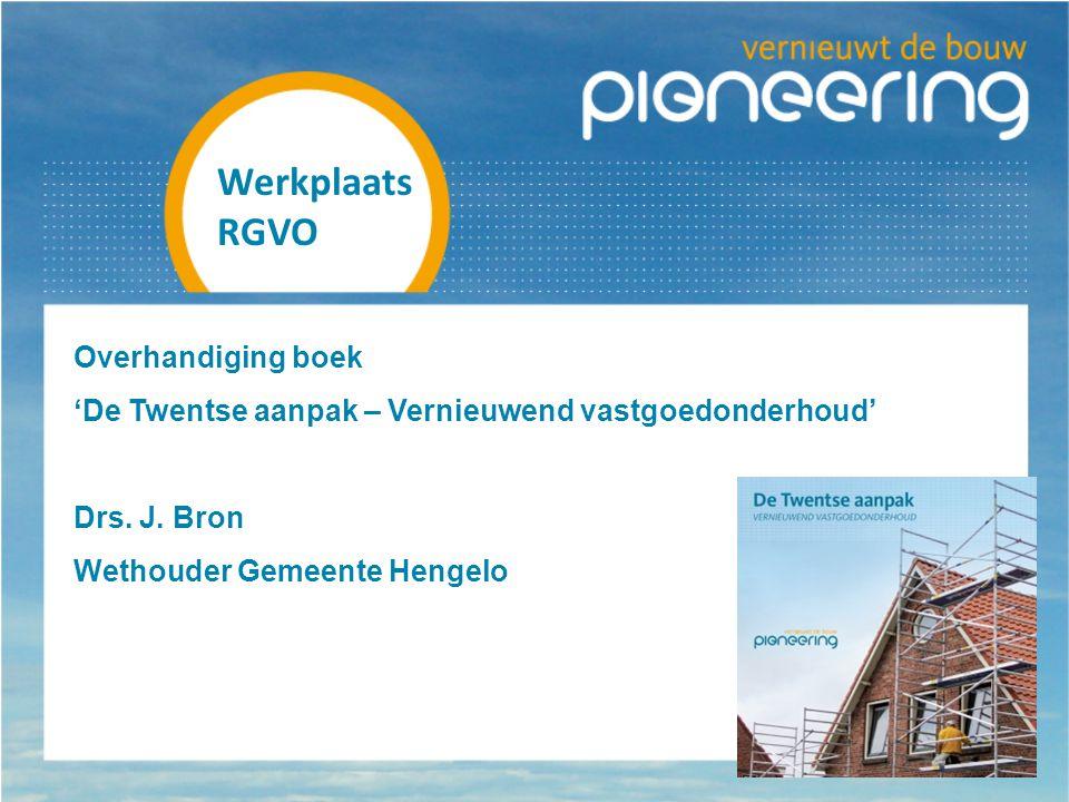 Werkplaats RGVO Overhandiging boek