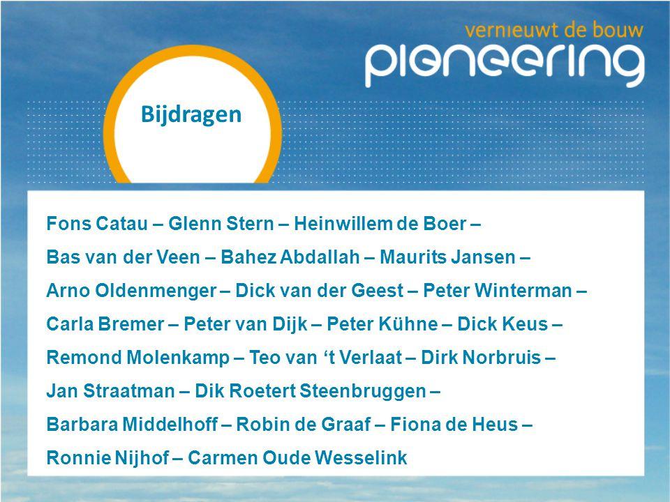Bijdragen Fons Catau – Glenn Stern – Heinwillem de Boer –