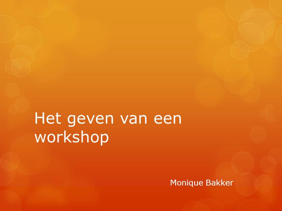 Het geven van een workshop