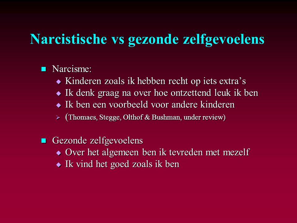 Narcistische vs gezonde zelfgevoelens