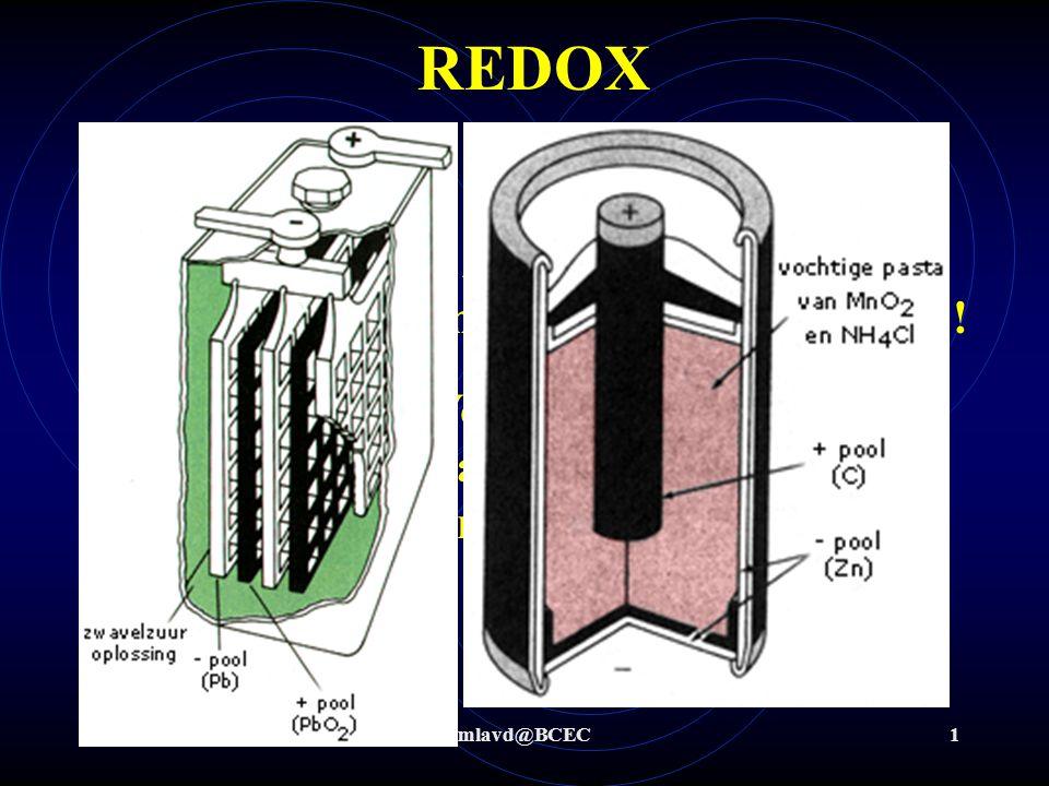 REDOX Wat is redox Redox-chemie zijn processen waarbij overdracht van elektronen plaats vindt !