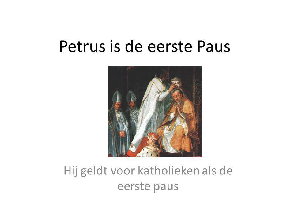 Petrus is de eerste Paus