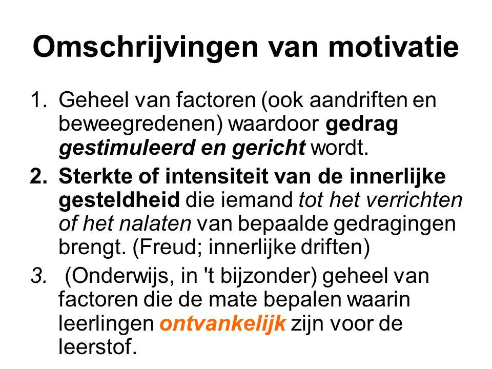 Omschrijvingen van motivatie