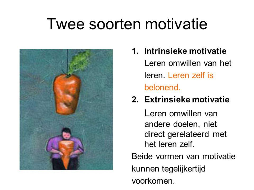 Twee soorten motivatie