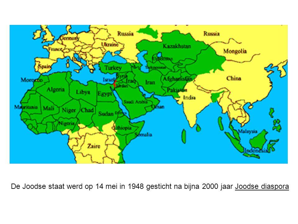 De Joodse staat werd op 14 mei in 1948 gesticht na bijna 2000 jaar Joodse diaspora