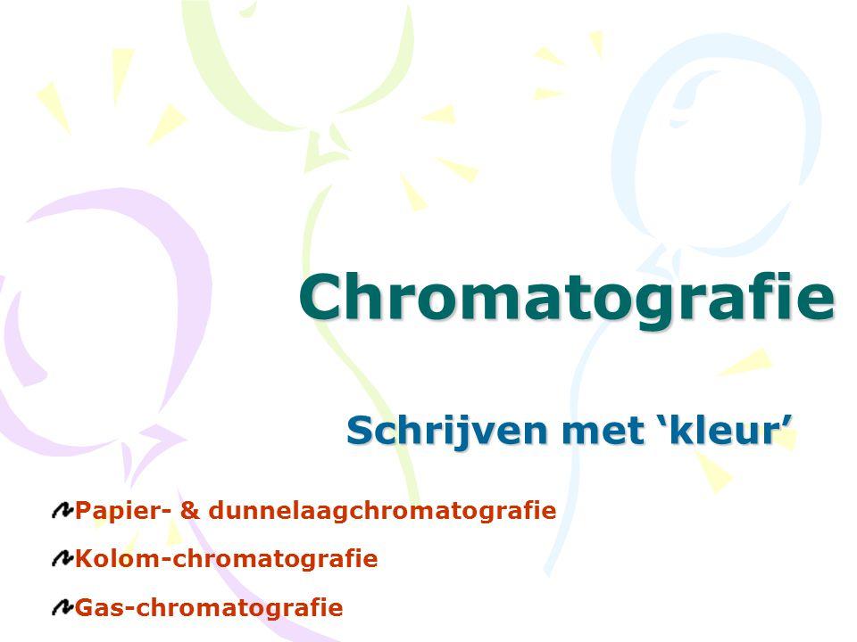 Chromatografie Schrijven met 'kleur' Papier- & dunnelaagchromatografie