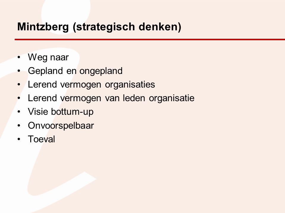 Mintzberg (strategisch denken)