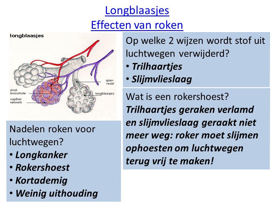Longblaasjes Effecten van roken