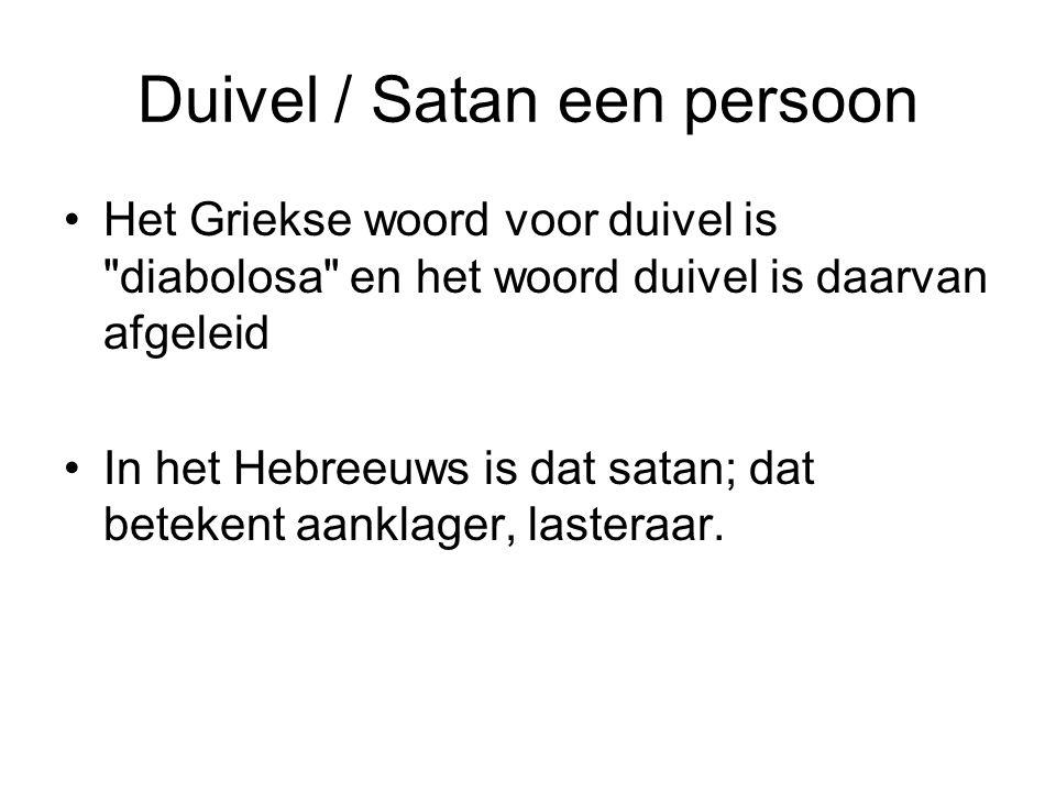 Duivel / Satan een persoon