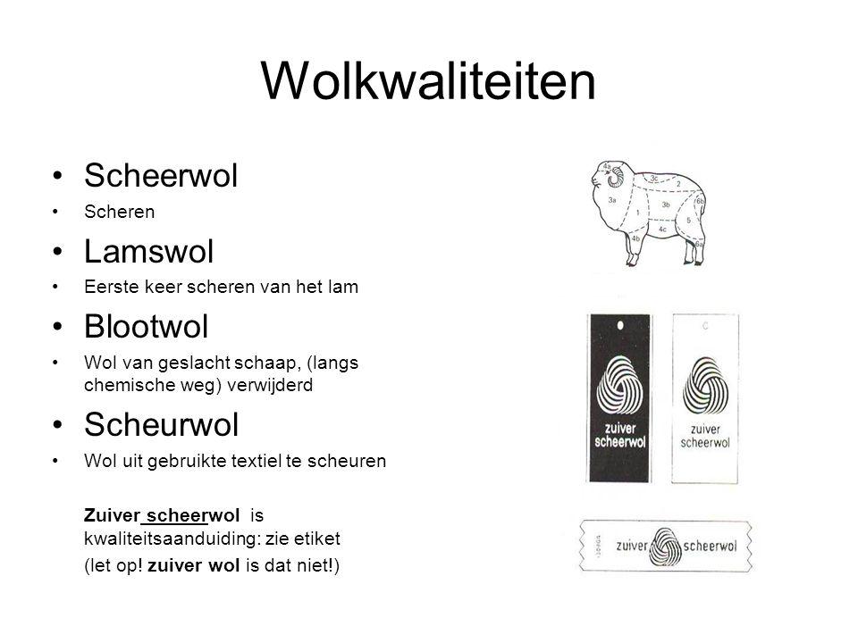 Wolkwaliteiten Scheerwol Lamswol Blootwol Scheurwol Scheren