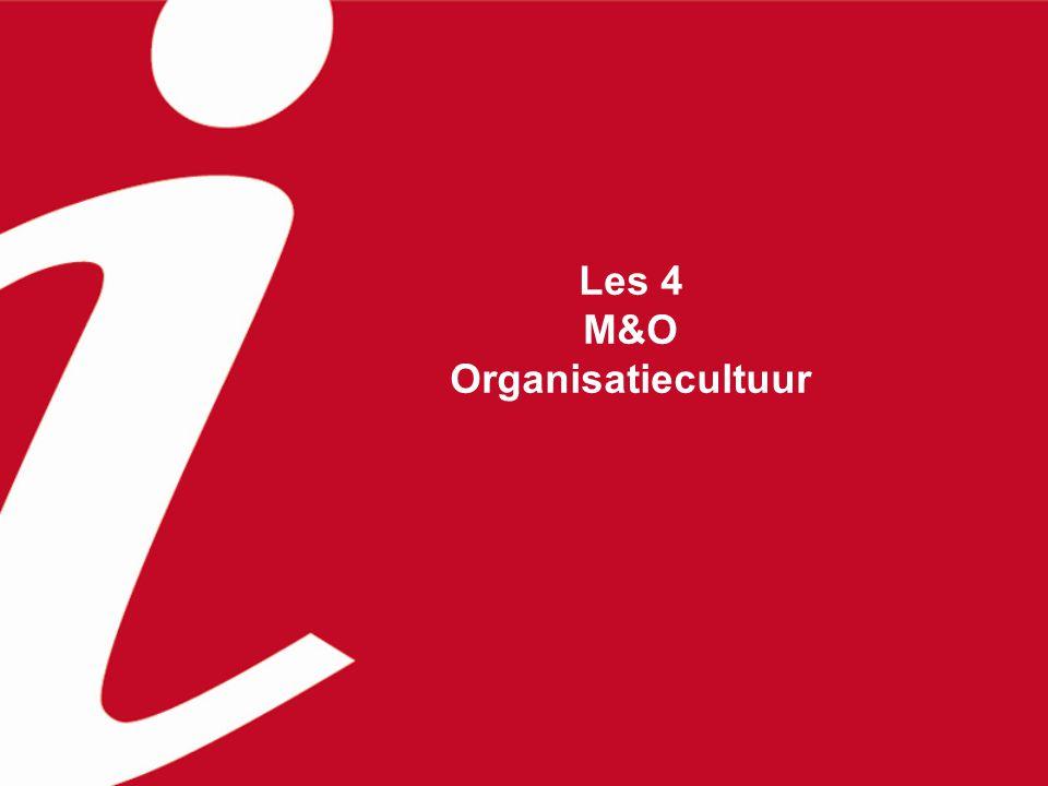 Les 4 M&O Organisatiecultuur