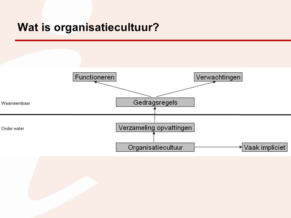 Wat is organisatiecultuur