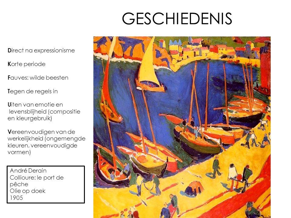 GESCHIEDENIS Direct na expressionisme Korte periode