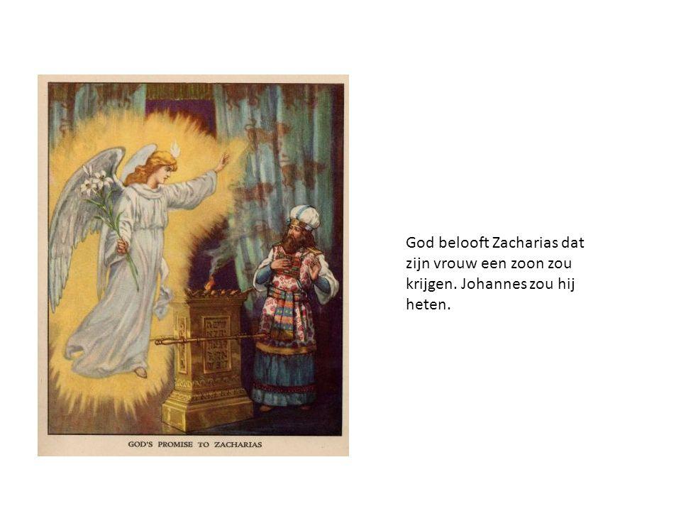 God belooft Zacharias dat zijn vrouw een zoon zou krijgen