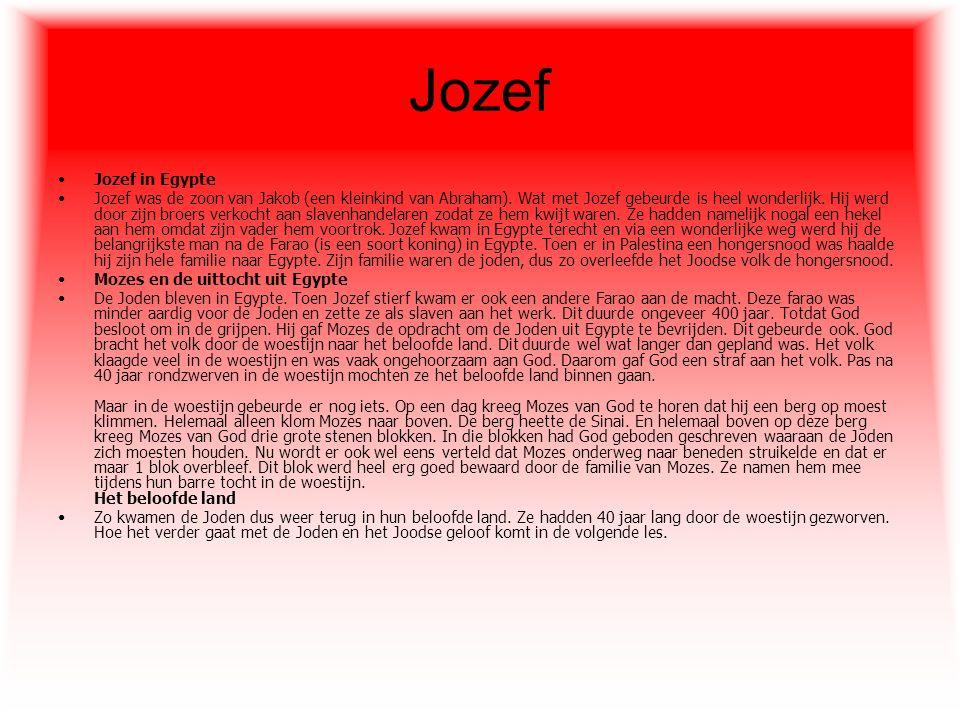 Jozef Jozef in Egypte.