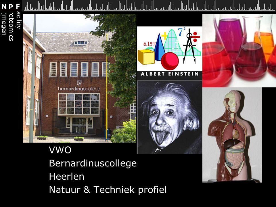 VWO Bernardinuscollege Heerlen Natuur & Techniek profiel