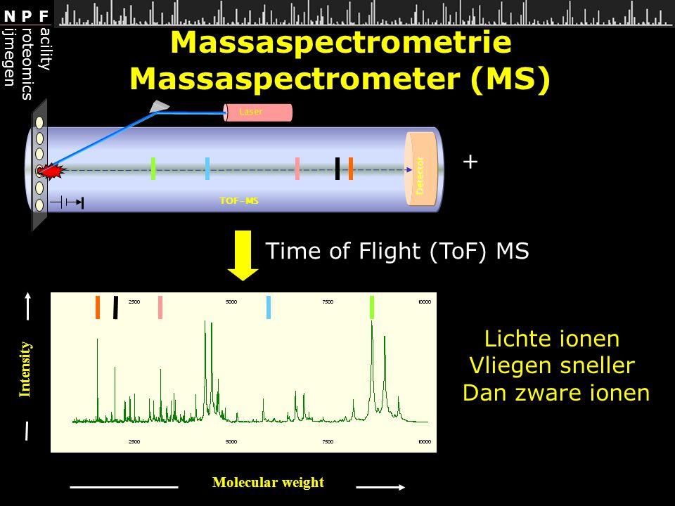 Massaspectrometrie Massaspectrometer (MS)