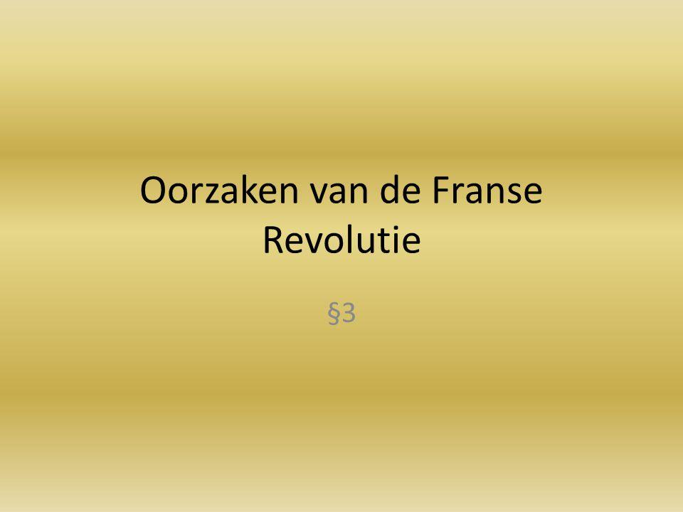 Oorzaken van de Franse Revolutie