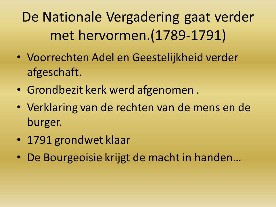 De Nationale Vergadering gaat verder met hervormen.(1789-1791)