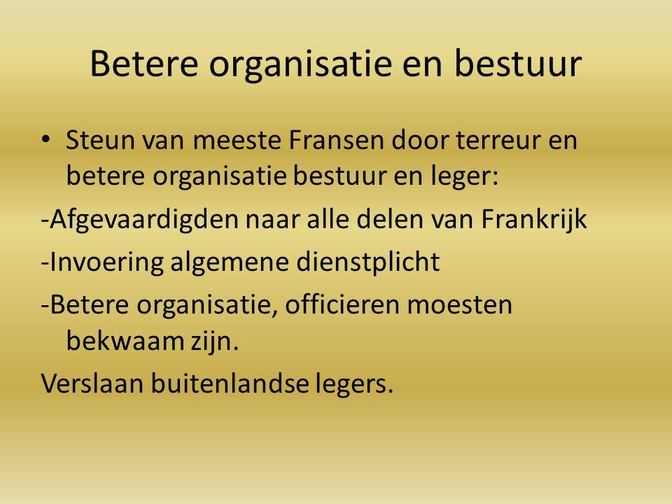 Betere organisatie en bestuur