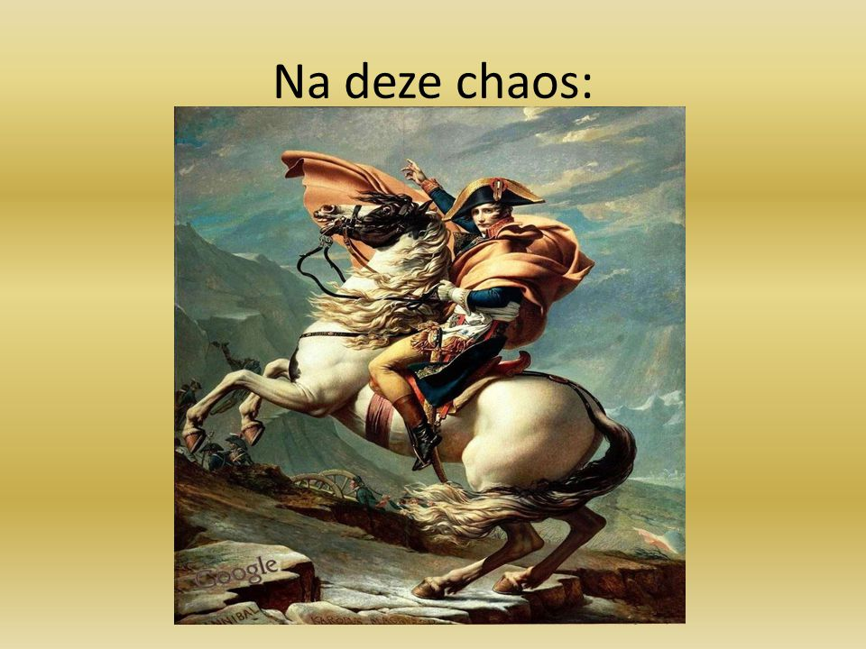 Na deze chaos: