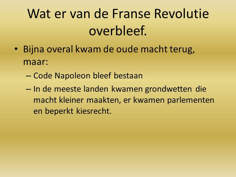 Wat er van de Franse Revolutie overbleef.