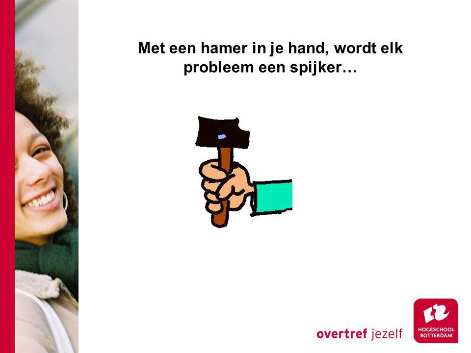 Met een hamer in je hand, wordt elk probleem een spijker…