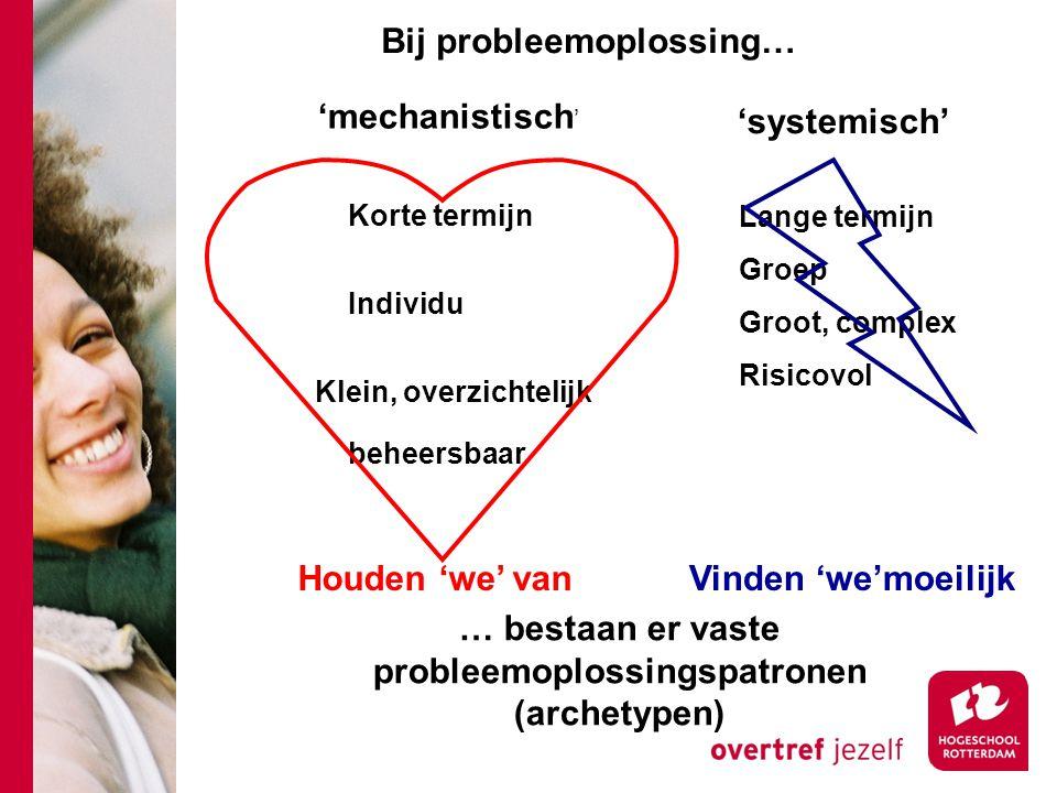 … bestaan er vaste probleemoplossingspatronen (archetypen)