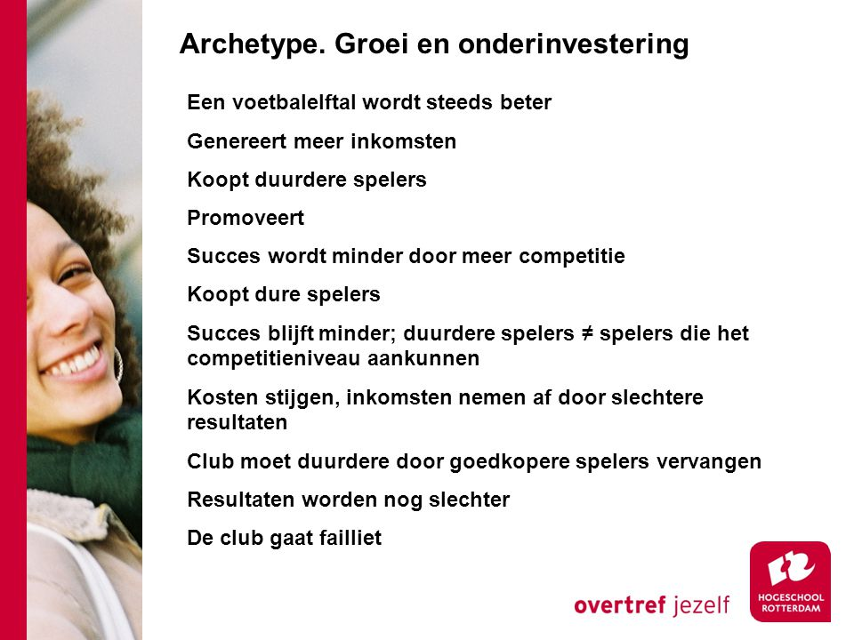 Archetype. Groei en onderinvestering