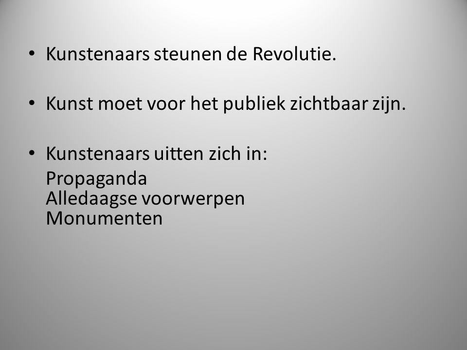 Kunstenaars steunen de Revolutie.
