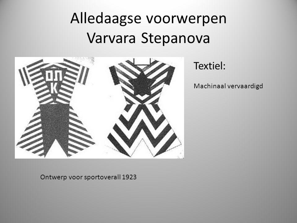 Alledaagse voorwerpen Varvara Stepanova