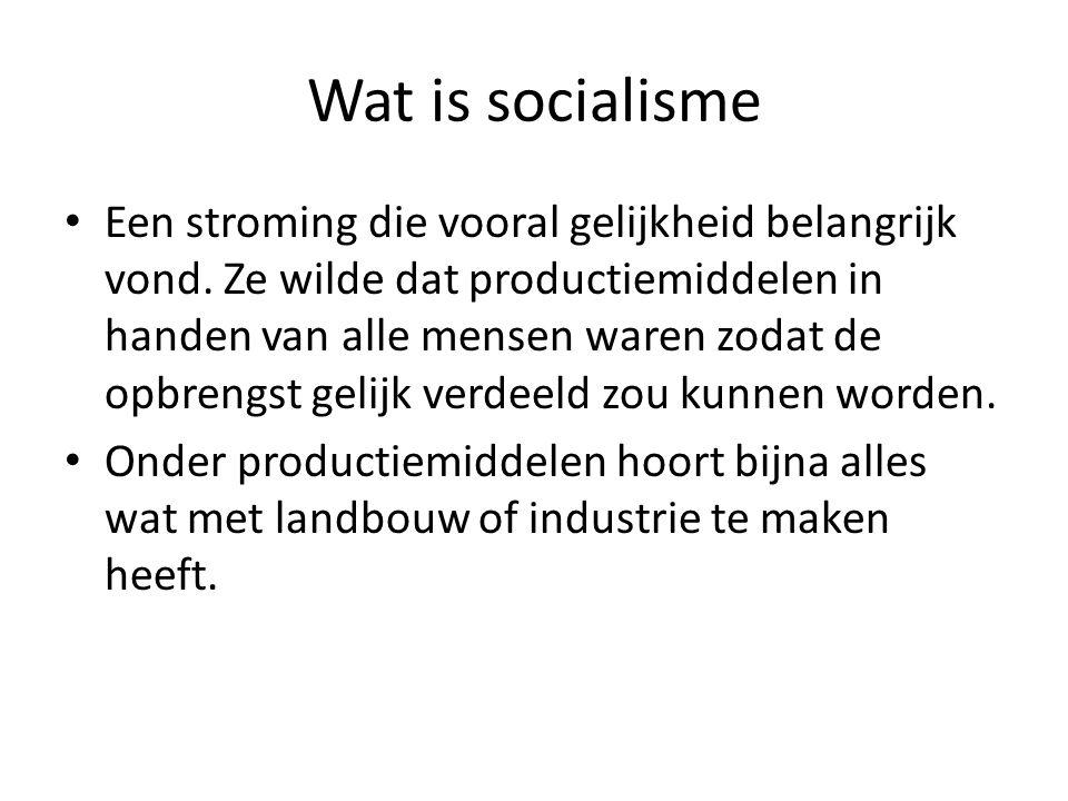 Wat is socialisme