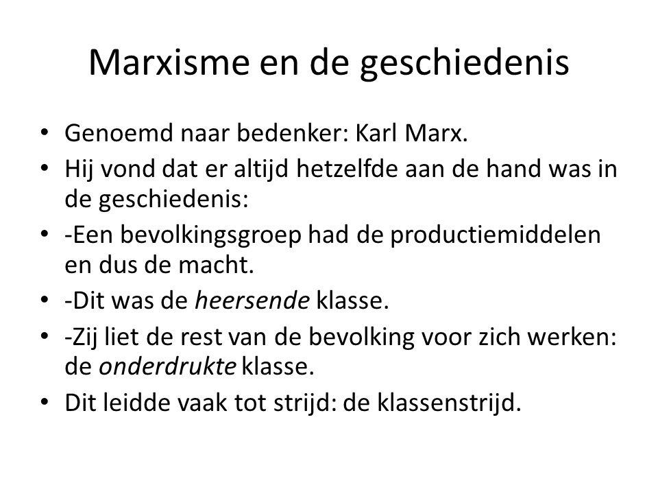 Marxisme en de geschiedenis