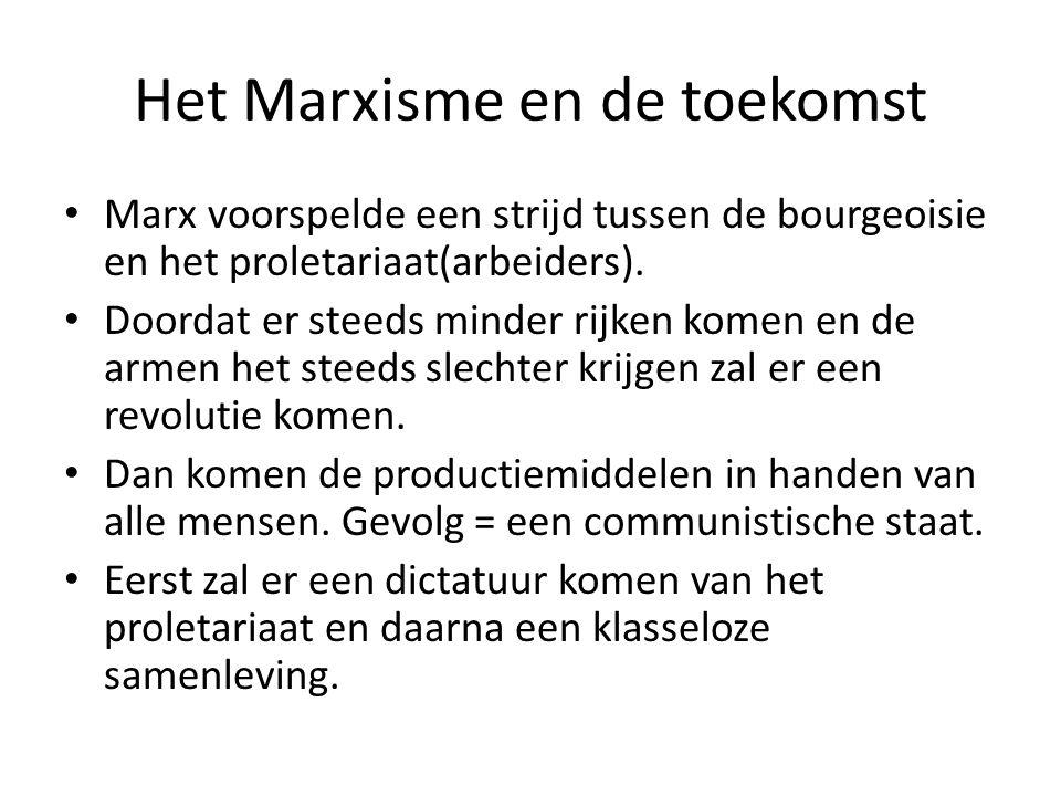 Het Marxisme en de toekomst