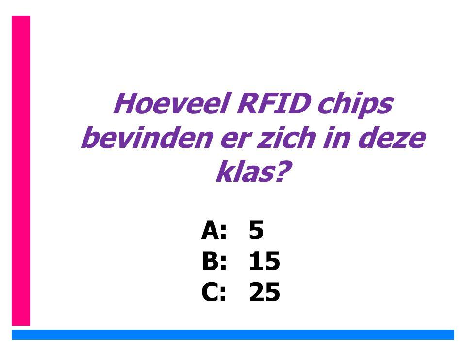 Hoeveel RFID chips bevinden er zich in deze klas