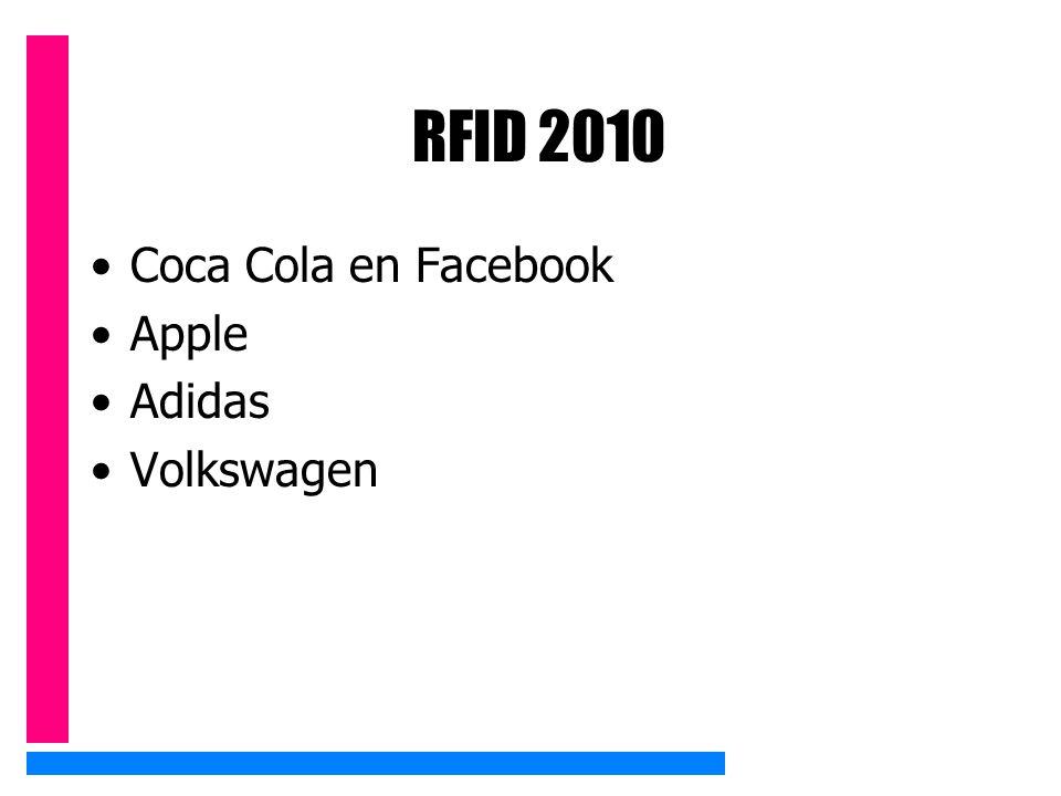 RFID 2010 Coca Cola en Facebook Apple Adidas Volkswagen
