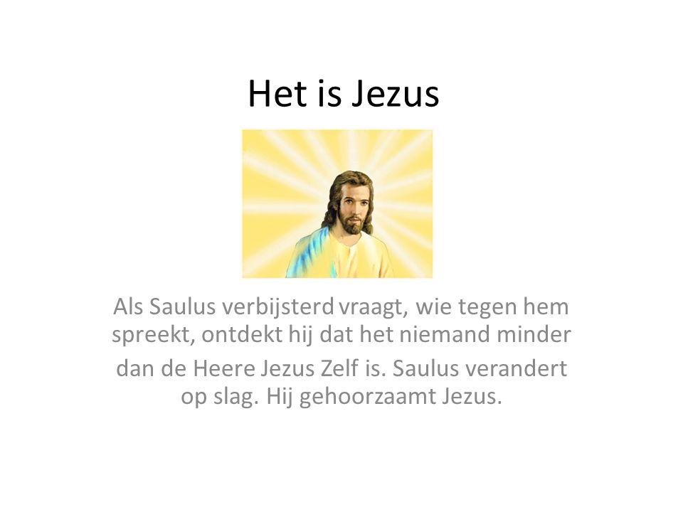 Het is Jezus Als Saulus verbijsterd vraagt, wie tegen hem spreekt, ontdekt hij dat het niemand minder.