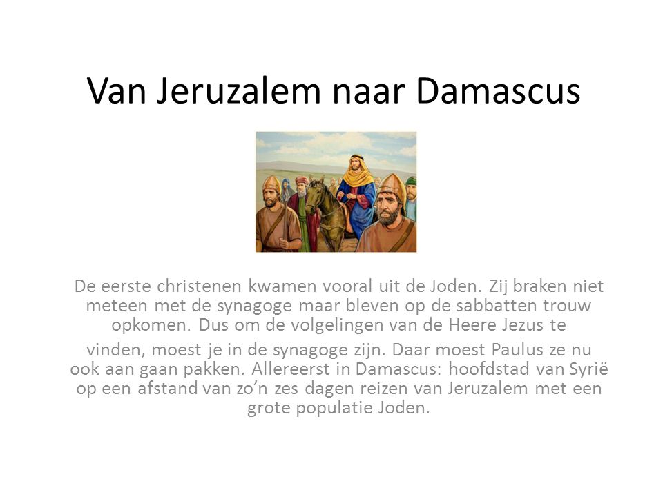 Van Jeruzalem naar Damascus