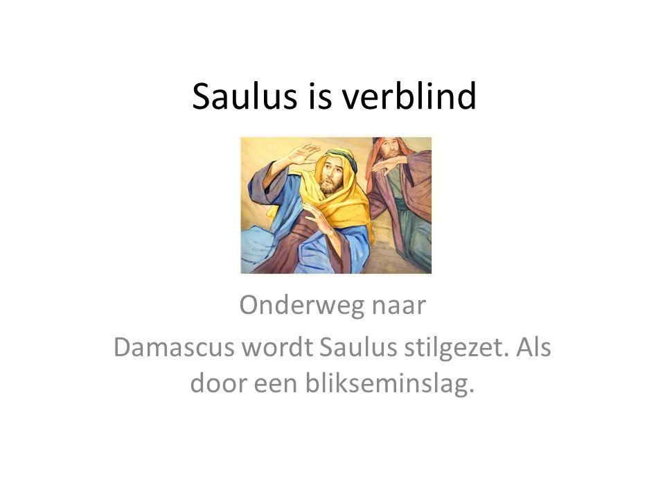 Damascus wordt Saulus stilgezet. Als door een blikseminslag.